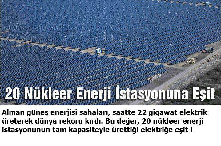20 Nükleer Enerji Santraline Eşit